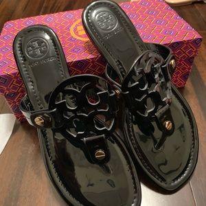 Tory Burch Miller Sandal NWT in box Patent black